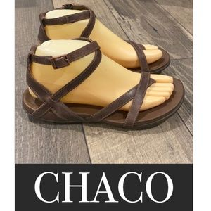 Authentic Chaco brown leather sandals sz 8